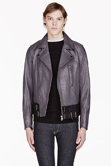 Diesel 7758 Grey Black Leather 50 best outerwear leather images on mens