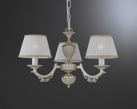 L Shades For Chandelier by 3 Lights White Brass Chandelier With L Shades