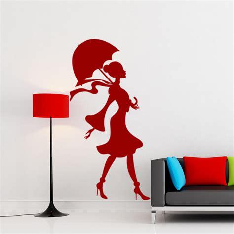 Porte De Chambre Design 4730 by Sticker Dame Avec Parapluie Ouverte Stickers