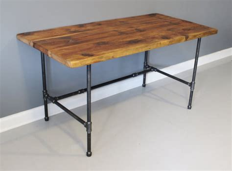 Industrial Pipe Desk Reclaimed Urban Wood Desk By Dendroco Pipe Computer Desk