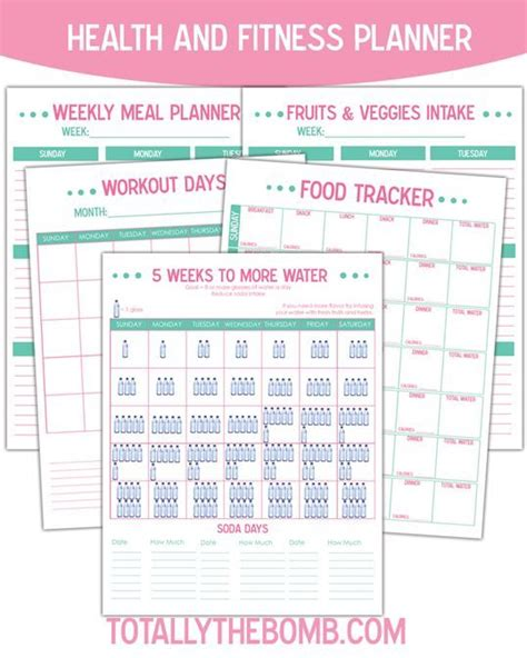 printable exercise planner free printable health and fitness planner planners