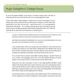 College Application Essay Hugh Gallagher Audience 4 Pearltrees