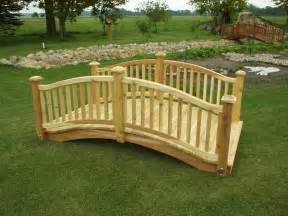 how to make a wooden bridge how to build wooden bridge cedar bridge shop com garden
