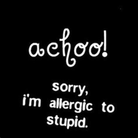 Alergi To Stupid 1000 images about cheeky quotes on sarcasm