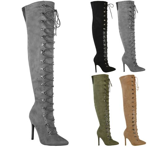 above knee boots womens thigh high the knee stiletto heel boots