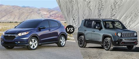honda jeep 2015 2016 honda hr v vs 2015 jeep renegade