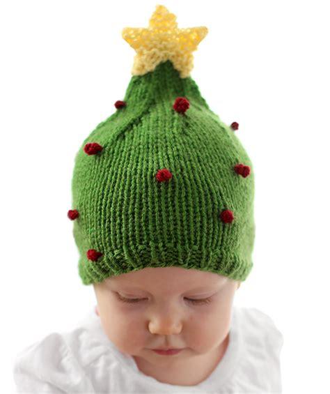 pattern for christmas tree hat christmas tree baby hat pattern allfreeknitting com