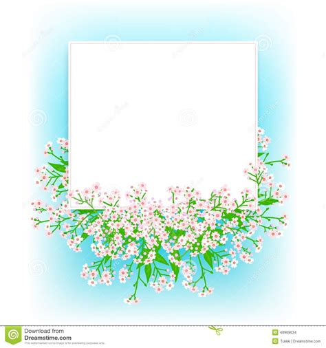 small gift cards templates vector card with small pink flowers stock vector image