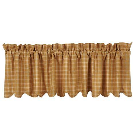 scalloped valance curtains amherst scalloped curtain valance