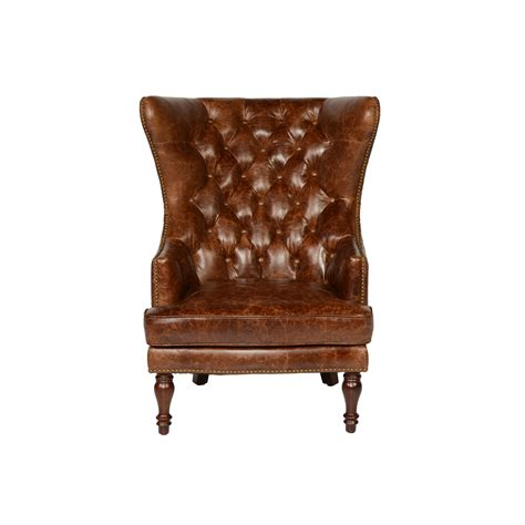 Tufted Wingback Chair by Lazzaro Leather Sedgefield Wing Back Tufted Wingback Chair
