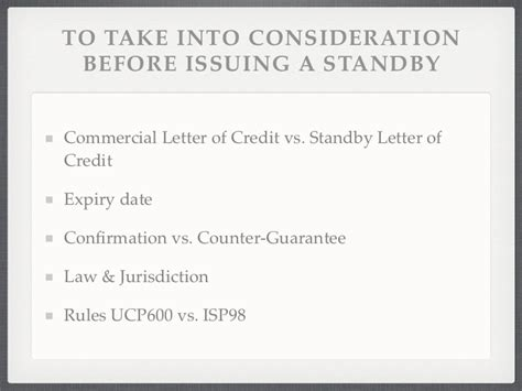 Demand Guarantee Vs Standby Letter Of Credit Guarantees Standby Letter Of Credits