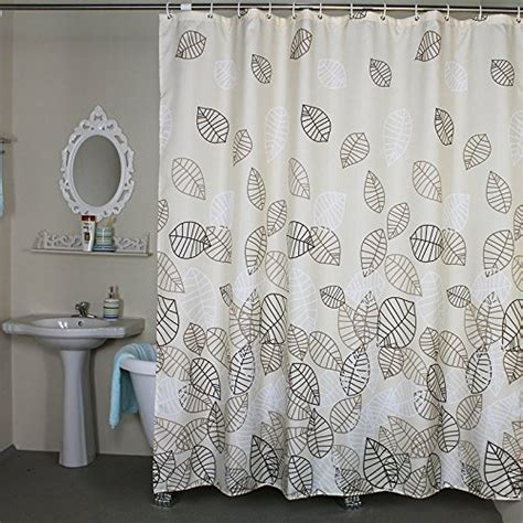 Shower Stall Curtains 36 X 72 by Bathroom Fabric Bath Shower Curtain Set Leaves Bath Shower