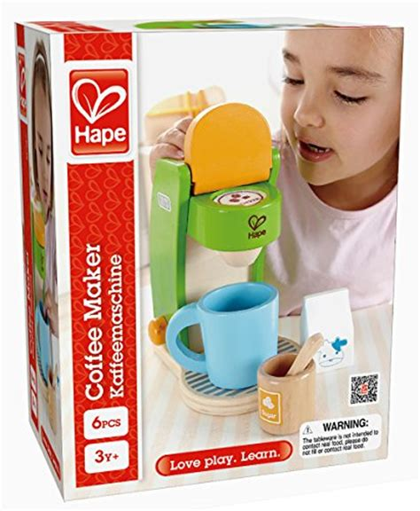Hape Playfully Delicious Kitchen by Hape Kid S Coffee Maker Wooden Play Kitchen Set With