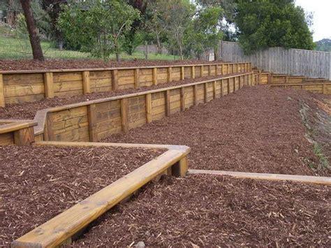 best 20 wood retaining wall ideas on pinterest garden retaining wall sleeper wall and