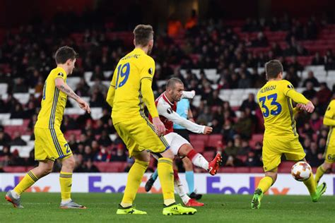 arsenal bate arsenal 6 0 bate borisov as it happened europa league