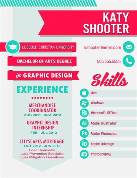 graphic design resume and graphics on
