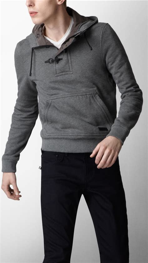 Hoodie Jumper Rebel8 Grey lyst burberry sport cotton jersey hooded sweater in gray for