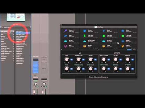 drum machine tutorial youtube logic pro x drum machine designer tutorial 1 youtube