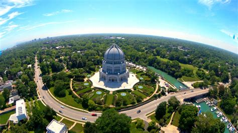 house of worship bahai house of worship wilmette il dronestagram
