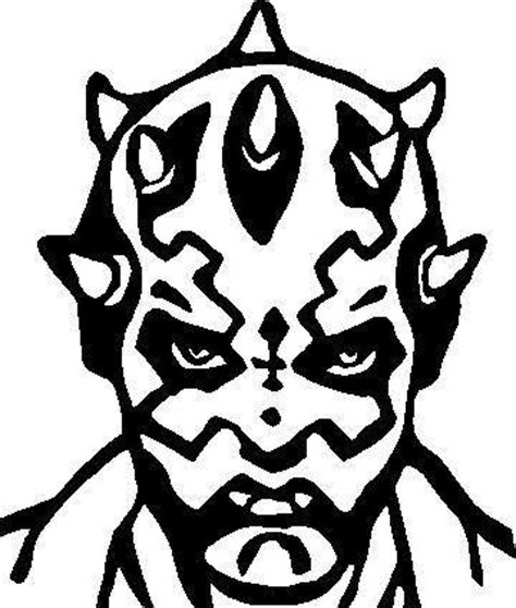 Comic Decals And Cartoon Decals Star Wars Darth Maul Darth Maul Coloring Pages