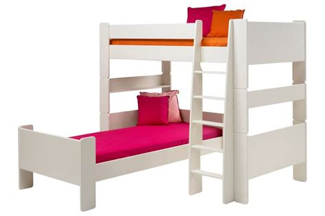 Into Bunk Bed by Solitaire White L Shaped Bunk Bed Bunk Bed L Shaped Bunk Beds And White Bunk Beds