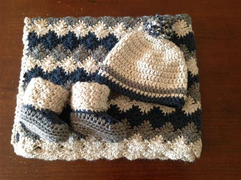 Handmade Baby Blanket - handmade crochet baby boy stroller blanket traveller new