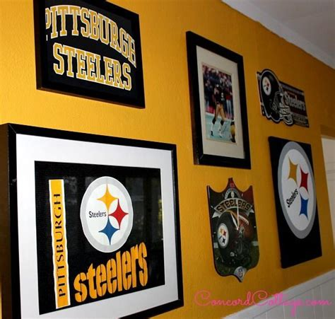 Steelers Decor by Pittsburgh Steelers Football Themed Tv Room Hometalk