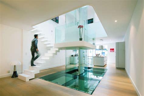 glass room new rochelle futuristic townhouse with central glass axis idesignarch interior design architecture