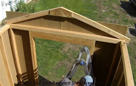 Building A Shed Roof by How To Build A Shed Storage Shed Building