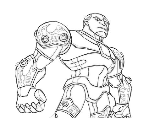 lego cyborg coloring page cyborg free coloring pages