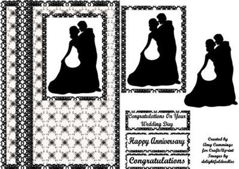 Black and White Wedding or Anniversary Decoupage Card
