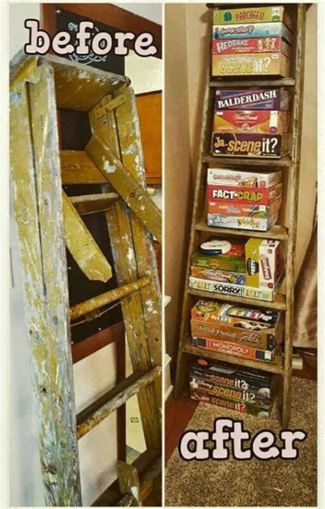 game storage ideas 1000 ideas about wooden ladder decor on pinterest old