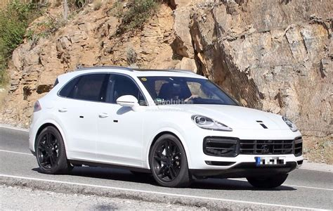 cayenne porsche spyshots 2018 porsche cayenne nearly revealed has short