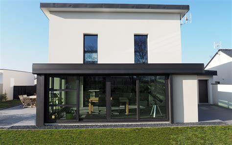 Modele De Veranda Contemporaine 3193 by Contemporaine V 233 Randas Bois Et Aluminium Nantes