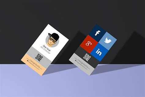 Free Vertical Business Card Template Psd by Free Vertical Business Card Design Template Mock Up Psd File