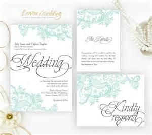 mint green wedding invitations mint green lace wedding invitation printed on shimmer