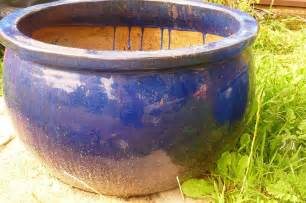 large ceramic planter pot blue 163 10 00 picclick uk