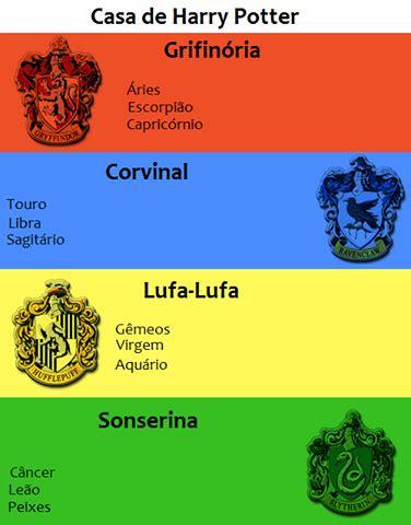 casas hogwarts harry potter descubra sua casa de acordo o signo
