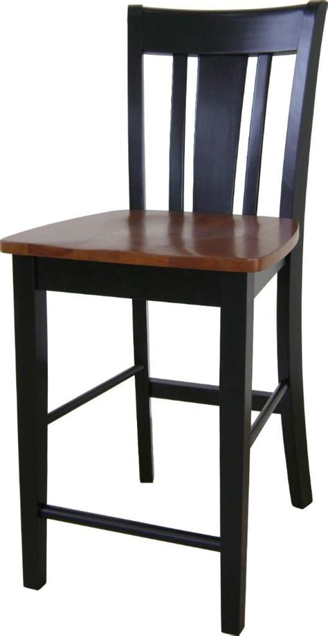 Black And Cherry Bar Stools by International Concepts San Remo Counterheight Stool 24