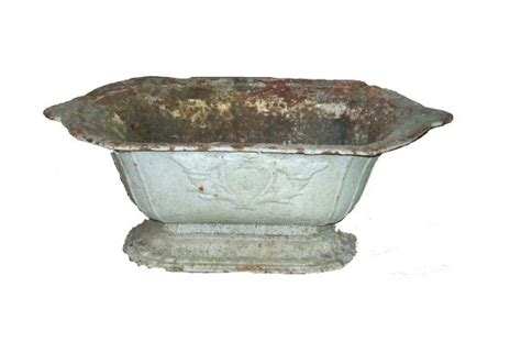 Shaped Planters For Sale by Pair Of Painted Iron Planters For Sale Antiques