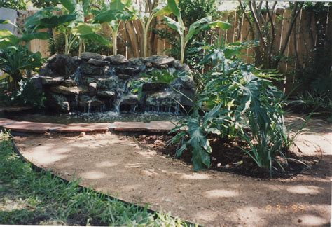 waterfalls ponds landscape and design