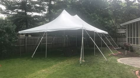 tent in backyard backyard graduation party with 20 x 30 rope and pole