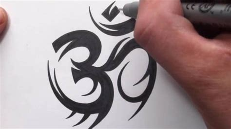 tribal om tattoo how to draw a tribal om symbol design