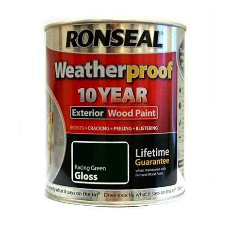 ronseal weatherproof 10 year exterior wood paint 750ml - Ronseal Exterior Wood Paint