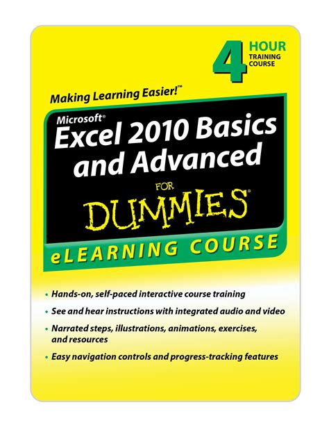 tutorial excel 2010 advanced excel 2010 advanced for dummies training course by wiley