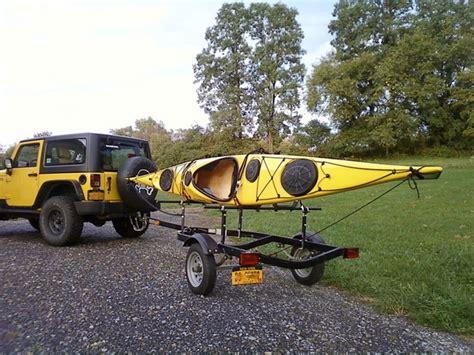 jon boat trailer to kayak trailer kayak trailer options kayaking and kayak fishing forum