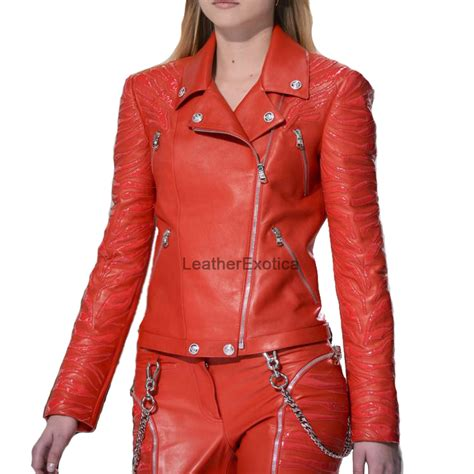 designer style celebrity women leather jacket