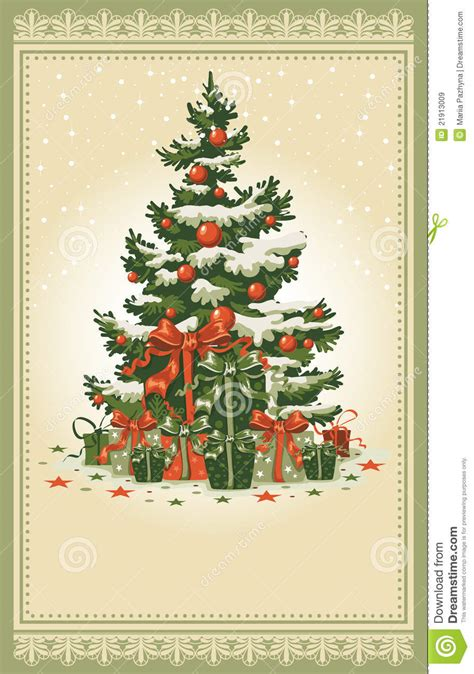 vintage christmas card royalty  stock images image
