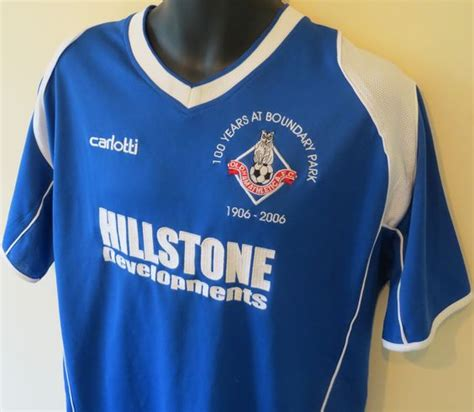 youth blue domenik hixon 87 jersey valuable p 367 oldham athletic home 100 years at boundary park shirt by