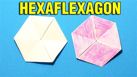 How To Make A Flexagon Out Of Paper - how to make a flexagon origami how make hexaflexagon